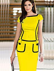 Monta High Temperament  Slim Fit  Sleeveless Pencil Skirt