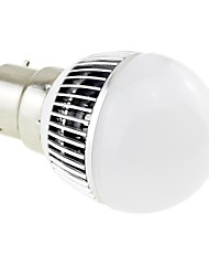 B22 3W LED 6x5730 SMD 260LM 6000K White Light Globe Bulb Lamp with Aluminum Fin Heat Sink (AC 85~265V)