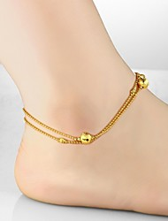 Body Jewelry/Anklet Body Chain Gold Plated Others Unique Design Fashion Gold 1pc