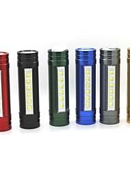 Lampes de poche led rechargeables xl80 3 modes 6xled 2 en 1 (1200lm.built en battery.red)