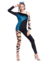 Jazz Performance Women's Sequined Lycra And Feather Modern/Jazz Dance Dress