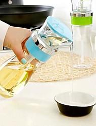 Quantitative Non-leak 400ml Glass Push Oil Jugs(Random Color)