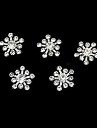 10pcs     Rhinestone Snownflake DIY Accessories Nail Art Decoration
