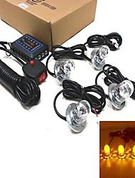 guidage de récupération clignotant balise 4 x 3W LED haute puissance lumière stroboscopique (couleurs en option)