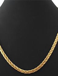 U7 dos homens de alta qualidade ouro 18k preenchido colares Figaro pedaços 5 milímetros 55 centímetros com selo