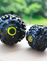 riendo perro de juguete regalo mascota pelota dispensador cuac risita bola de comida sólida para perros gatos mascotas (7 cm de diámetro)