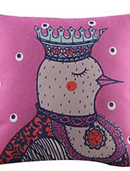 mrs galo algodão / linho fronha decorativo