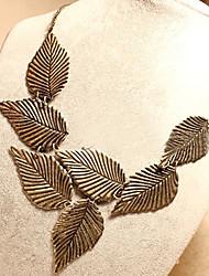 colar de folha do vintage das mulheres Laivi