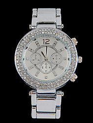 m&h mode diamonaded afdrukken quartz horloge