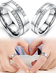 Exquisite Gift Fashion Diamond Titanium Lovers Ring Promis rings for couples