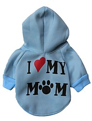 Cat / Dog Hoodie Red / Blue / White / Pink / Gray Dog Clothes Winter Letter & Number