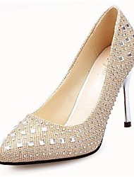 Women's Shoes Pointed Toe Stiletto Heel Pumps with Rhinestone Wedding Shoes More Colors available