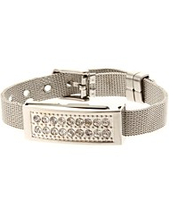 ZP 32GB Bracelet Pattern Silver Pedestal Crystal Jewelry Style USB Flash Drive