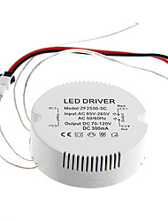 0.3A 25-30W DC 70-120V to AC 85-265V Circular External Constant Current Power Supply Driver for LED Ceiling Lamp