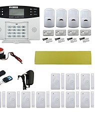 Quad-Band Home Burglar Security Alarm System w/ Detector Sensor Kit / Remote Control