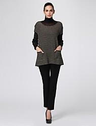 oxygene monde® lurex drop-ombro-luva 2-peças femininas pulôver