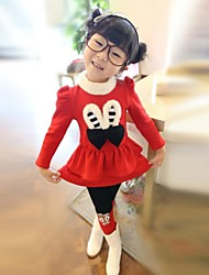 Girl's Fashion Sweet Lovely Rabbit Dress And Pant Clothing Set