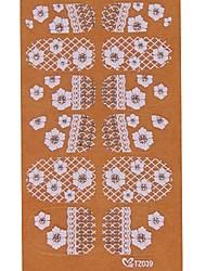 yemannvyou®2x14pcs verleihen 3D Diamant transparent weißen Spitzen Nagelkunst ultradünnen Aufklebern tz039