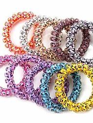 A nova linha de telefone a impressão de moda cor-de-doces elástico de cabelo laços cor aleatória