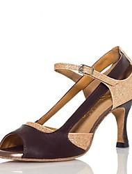 los tacones altos de las mujeres latinas no personalizables zapatos de baile buckie satén tacón grueso (más colores)