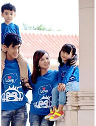 Long Sleeve Polyester Family Clothing Sets , Winter/Fall Tee