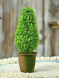 forme d'art de fleur de simulation de plastique délicate pur et frais de la plante en pot