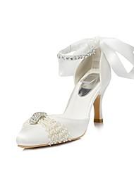 Zapatos de mujer - Tacón Stiletto - Tacones / Puntiagudos - Tacones - Boda / Fiesta y Noche - Semicuero - Marfil / Blanco