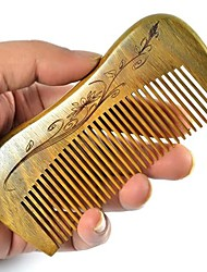 Curve Comb Back Design 12x5cm Health Green Sandalwood Wooden Comb