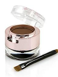 y.cid® poudre de sourcil imperméable magie avec eye-liner 2 en 1 démaquillant pour les yeux ensemble