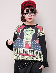 Women's Gorilla Print Long Sleeve Blouse T-Shirts