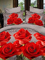 jian textiles de maison de yue imprimé floral coton costume quatre pièces