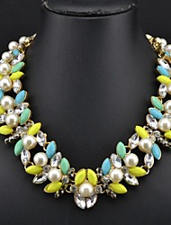 Women's Popular Pearl Gem Necklace