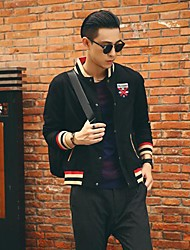 Men's Long Sleeve Jacket , Cotton/Polyester Casual
