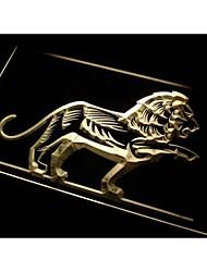 N468 décoratif barre de lion signe de bière légère au néon