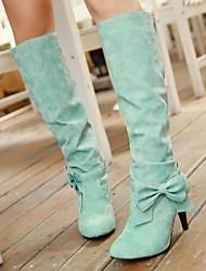 damesschoenen ronde neus dikke hak knie-hoge laarzen meer kleuren beschikbaar