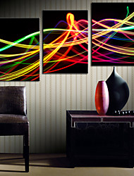 Stretched Canvas Art Abstract Colorful Light Set of 3