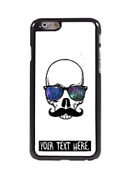 Personalized Case Cool Skull Design Metal Case for iPhone 6 Plus