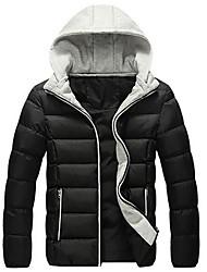branchés chaudes hoodies d'épissage confortables de meroketty®men tirette manteau rembourré