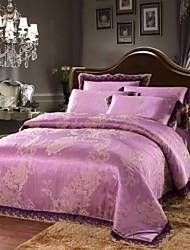 Xinxingmeng® Duvet Cover Sets Luxury 4 Piece Purple Novelty Jacquard Full Queen