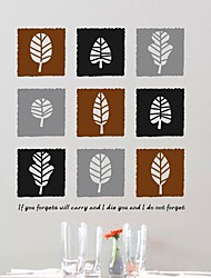 Wall Stickers Wall Decals,  Modern The box leaves PVC Wall Stickers