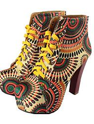 meilisha платформа высокий каблук короткая boots_7