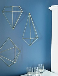 Metal Wall Art Wall Decor,The 3D geometry Wall Decor Set Of 3