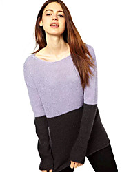 LA MODE Women's Mohair Long Sleeve Sweater