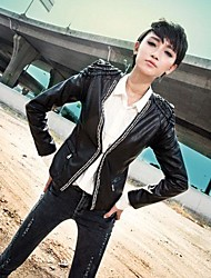 estilo coreano de la mujer delgada pipi abrigo ropa lavada