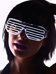 Light Up Shades Glasses with White EL Wire LED Glow Sunglasses 2AA Batteries