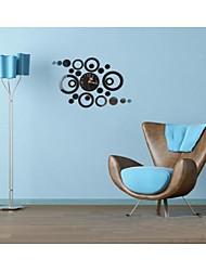 3d bricolage style moderne nouveau miroir de bague horloge murale