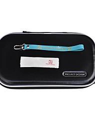 3 en 1 lleva el caso de viajes de bolsillo bolsa bolso de la cubierta negro para nintendo wii u gamepad