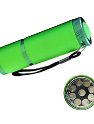Huntereyes ™ 9 - LED Luminous Holster Flashlight  (3 xAAA Random Color)