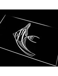 n486 poissons ange signe bar bière décor néon de lumière