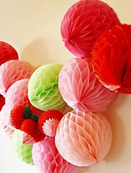 8 Inch Honeycomb Tissue Paper Flower Ball (More Colors)